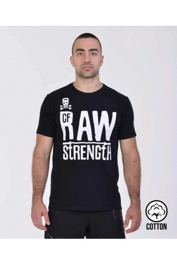 T-shirt IRONFIBRE- RAW STRENGHT  – Black Man Cross-Fit