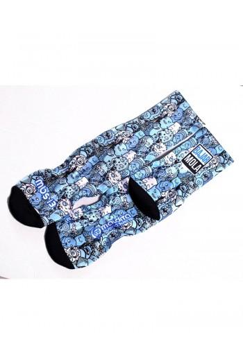 Kids Sports socks BLUE ALIEN- MBS Cross-Fit