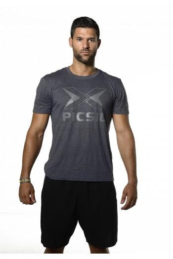 Grey Logo T-Shirt PicSil Cross-Fit