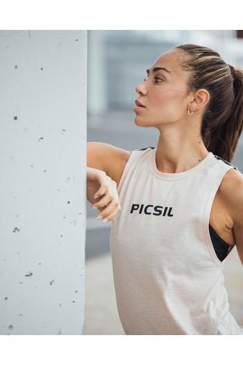 Tank T-shirt Picsil Core – Light Orange Woman Cross-Fit