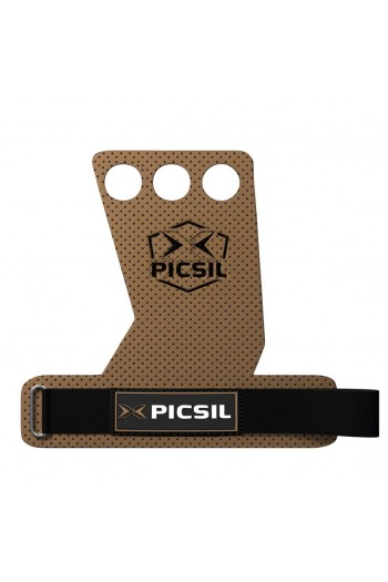 Hand Grips PicSil AzorGrips 3hole Brown Cross-Fit
