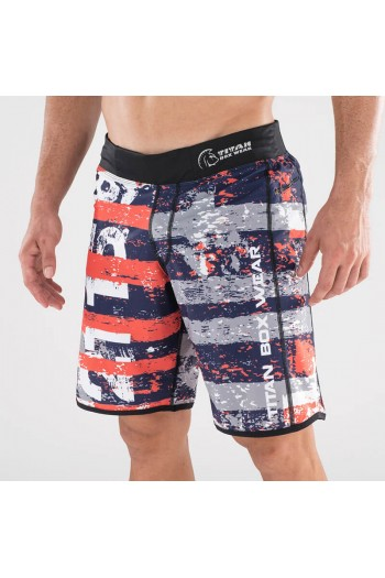 Endurance Short (FRAN Orange/Navy) Titan Box Wear Cross-Fit