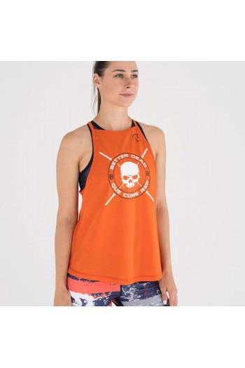 Ecoactive Women tank (Integrity Orange/Navy) Titan Box Wear Cross-Fit