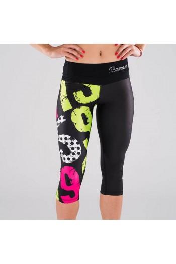 Xtamina 3/4 tights (21-15-9 Lime Kick) Titan Box Wear Cross-Fit