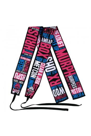 Agilitas Wrist Wraps (Box Lingo 3 Pink/Blue) Titan Box Wear Cross-Fit