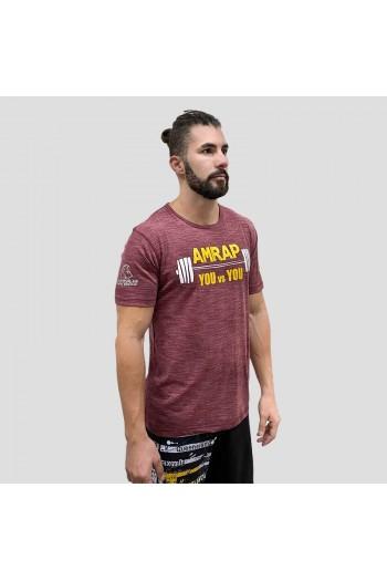 Ecoactive T-shirt (AMRAP Crimson/Yellow) Titan Box Wear Cross-Fit