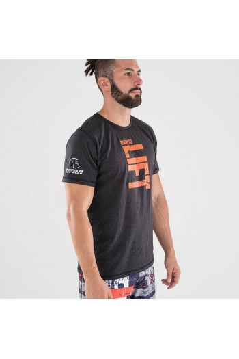 Ecoactive T-shirt (Born To Lift Black/Orange) Titan Box Wear Cross-Fit