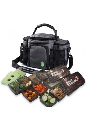 Meal Prep Bag with Food Containers Bear Komplex Cross-Fit