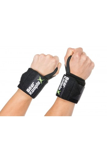 Wrist Support Band Wraps for Weightlifting  Bear Komplex- Black Cross-Fit