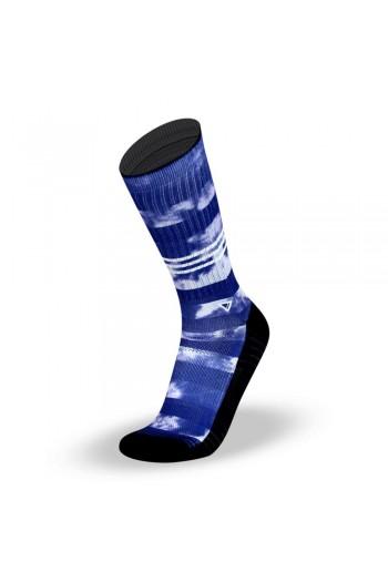 Sports socks BLUE TIE DYE